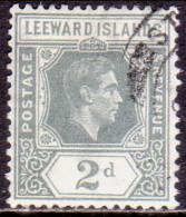 LEEWARD ISLANDS 1942 SG #103a 2d Used Slate-grey - Leeward  Islands