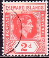LEEWARD ISLANDS 1949 SG #104 2d Used Scarlet - Leeward  Islands