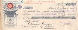 """06250  """"SOCIETA' ITALIANA MASA - MILANO - ASSEGNO BANCARIO - 1924"""" ORIGINALE - Assegni & Assegni Di Viaggio"""