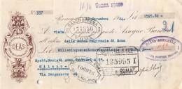 """06252  """"DOTT. ELIO & A. SBARIGIA - D.E.A.S. - ROMA - ASSEGNO BANCARIO - 1924"""" ORIGINALE - Assegni & Assegni Di Viaggio"""