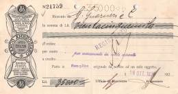 """06254  """"BANCO AMBROSIANO - RICEVUTA DI VERSAMENTO IN CONTO CORRENTE - 1926"""" ORIGINALE - Italia"""