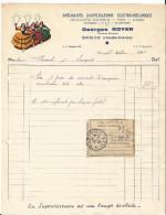 Vieille Facture - Georges Royer à Biesles - Spécialités D´applications électro-mécanique - électricité - Lumière Pub - Elektrizität & Gas
