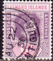 LEEWARD ISLANDS 1938 SG #109 6d Used Deep Dull Purple And Bright Purple - Leeward  Islands