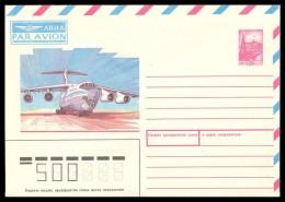 "RUSSIA 1987 ENTIER COVER 88043 Mint AIRPLANE ""IL-76"" ILYUSHIN AVIATION PLANE CIVIL AEROPLANE TRANSPORT 50 Kop AVION USSR - 1980-91"