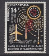 Rwanda 1963 Union Africaine Et Malgache Des PTT 1v ** Mnh (32010) - Rwanda