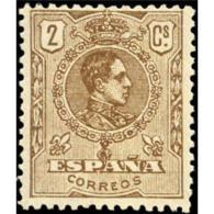 ES289STV-LFT***289STCFR.Spain.Espagne.REY ALFONSO  Xlll.MEDALLON (Ed 289**)sin Charnela. - Familias Reales