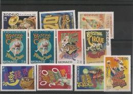 MONACO  Année 1991/2000 Festival Du Cirque  Neufs** - Collections, Lots & Series
