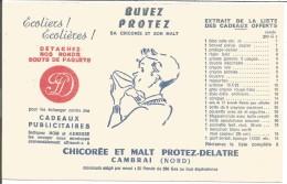 BUVARD CHICOREE ET MALT PROTEZ-DELATRE à CAMBRAI - Blotters