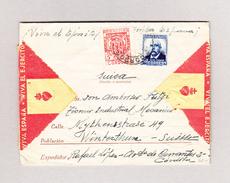 Spanien Militärbrief 31.1.1937 Nach Winterthur - 1931-50 Lettres