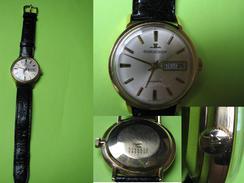 Montre Homme - 1960 - JAEGER LECOULTRE Jour Et Date Automatique OR 18K - Bracelet JL - Watches: Top-of-the-Line