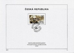Czech Republic - 2015 - Tribute To Sir Nicholas Winton - FDS (first Day Sheet) - Covers & Documents