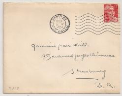 Mecanique PARIS 84 RUE BALLU Sur Enveloppe Avec 15F GANDON. 1951 - Marcophilie (Lettres)