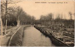 Anizy Pinon Le Canal Le Port   Très Belle Carte Rare - France