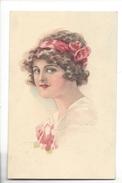 15310 -  Art Nouveau   Portrait De Jeune Fille  WSSB Série 5052 - Usabal