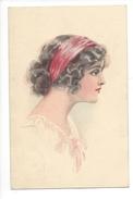 15311 -  Art Nouveau   Portrait De Jeune Fille  WSSB Série 5052 - Usabal