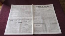CORNEBARRIEU - ANNONCE - VENTE DES DOMAINES DE BARBEROUSSE Et CORDELLE REUNIS  - ( JOURNAL DE TOULOUSE D´OCTOBRE 1843 .) - Journaux - Quotidiens
