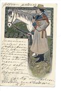 15312 -  Homme à La Pipe Et Son Cheval Paysan Polonais - Andere Illustrators
