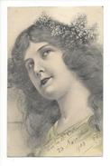 15313 -  Portrait De Jeune Fille Charme De La Jeunesse ASW Vive La Sainte Catherine 1905 - Illustrateurs & Photographes