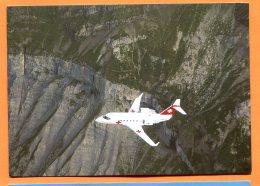 """CAL1186, Canadair CL 601 """"Challenger"""" Der Rega über Den Schweizer Alpen, Alpes Suisses, GF, Non Circulée - Sin Clasificación"""