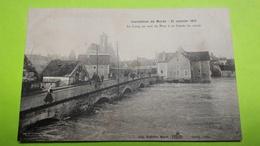 77 Seine Et Marrne - MORET SUR LOING - Crue 1910 - CPA Carte Postale Ancienne Animée / 2 - Moret Sur Loing