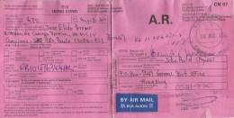 Hong Kong 2010 AR Advice De Reception Return Card From Campina Brazil Brasil - Cartas
