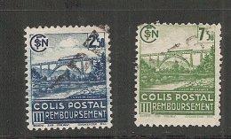 Colis Postaux  N°  189A Et 190A   (Cat. 1 - 2) 30-8-16 - Colis Postaux