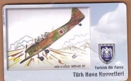AC - TURK TELECOM PHONECARDS -  MKE - UGUR  1955 - 63  37 - Airplanes
