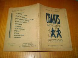 Chantiers De Jeunesse; Livret De Chants Autorisé Par La Censure: Marseillaise, C'est à Boire ... 1943 (Etat Français) - Livres, BD, Revues