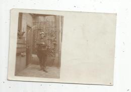 Cp, Carte Photo, Militaria, Militaire , Souvenir D'AUBERVILLIERS De La Campagne 1915 , écrite - Personen