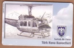 AC - TURK TELECOM PHONECARDS -  UH - IH 1970 - Airplanes