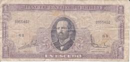 BILLETE DE CHILE DE 1 ESCUDO DEL AÑO 1964 (BANK NOTE) - Chile
