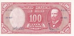 BILLETE DE CHILE DE 100 PESOS DEL AÑO 1960-61 (BANK NOTE) SIN CIRCULAR-UNCIRCULATED - Chile