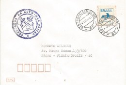 """Brasil Brazil 1991 Sao Francisco Do Sul Seagoing Tug Ship Rebocador De Alto-Mar """"Tritão"""" Da Marinha Do Brasil Cover - Cartas"""