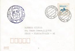 "Brasil Brazil 1991 Sao Francisco Do Sul Seagoing Tug Ship Rebocador De Alto-Mar ""Tritão"" Da Marinha Do Brasil Cover - Brieven En Documenten"