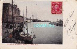 Amérique – Bateau, Voilier. - Mouth Of Hillsboro River, Tampa, Fla. Marcophilie, Philatélie - (voir Scan). - Tampa