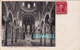 Amérique - Interior, Catholic Church, Tampa, Fla. - Marcophilie, Philatélie. - (voir Scan). - Tampa