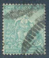 Cape Of Good Hope 1884. 1s Blue-green (p14 - Anchor). SACC 48a, SG 53a. - Südafrika (...-1961)