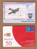 AC - TURK TELECOM PHONECARDS -  BRISTOL BEAUFIGHTER MK - 1  1943 - 48  15 - Aviones