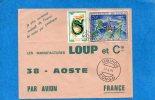 MARCOPHILIE-congo-lettre -Cad-MBINDA 1980-2 Stamps N°A63 Ronde Des Peuples+289 Serpent-pour Françe - Other
