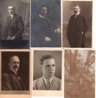 Lot De 6 Cartes Photos Originales Homme - Portrait De Beaux Jeunes Hommes 5 à La Moustache, 1 Sans ! - Anonymous Persons