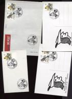 Belgie 4x 2665 2351 Birds Andre Buzin 4 X Met Speciaalstempels !!! RRR - Cartas Commemorativas