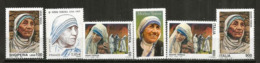 Hommage à Mère Teresa (6 Timbres Neufs **) Albanie,France,USA,Italia. - Mother Teresa