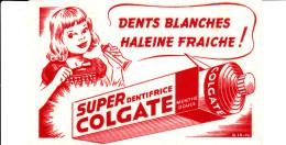 BUVARD SUPER DENTIFRICE COLGATE 17X10.5 BON ETAT VOIR SCAN - Buvards, Protège-cahiers Illustrés