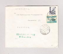 Spanien  2.4.1938 Soller Baleares Zensur Brief Nach Hamburg - 1931-Aujourd'hui: II. République - ....Juan Carlos I