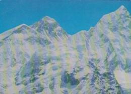 Nepal Mount Everest Flanked By Mount Nhuptse & Mount Lhotse - Nepal