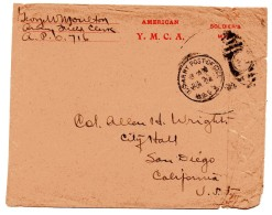 EEUU USA  SOLDIERS MAIL US ARMY POSTAGE OFFICE Y. M. C. A. - Etats-Unis