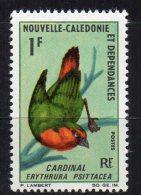 NOUVELLE-CALEDONIE - OISEAUX - BIRDS - CARDINAL - 1968 - - New Caledonia