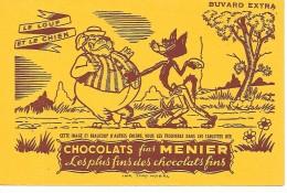 Chocolat  MEUNIER  - LE  LOUP Et LE  CHIEN - Chocolat