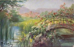 PK - Fantasie Fantaisie Landschap Paysage - Brug Pont - Illustr. Mary Galay - Illustrateurs & Photographes