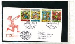 SAN MARINO FDC - FAVOLE - PINOCCHIO  -  COLLODI - ANNO 1990 - FDC